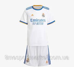 Дитяча Футбольна форма Реал Мадрид домашня 2021-2022 (ФУТБОЛКА+ШОРТИ) Біла