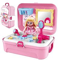 Портативний Рюкзак Cosmetics toy 8239, ігровий набір рюкзак Салон Краси для дівчинки