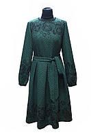 Темно-зеленое платье в этническом стиле, Valy Mode