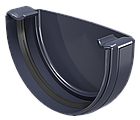 Заглушка ринви права / ліва. Водостічна система ПВХ REGENAU 125 коричнева, біла, графі, фото 3