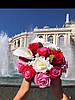Букет з ніжних мильних троянд в коробці форми серця