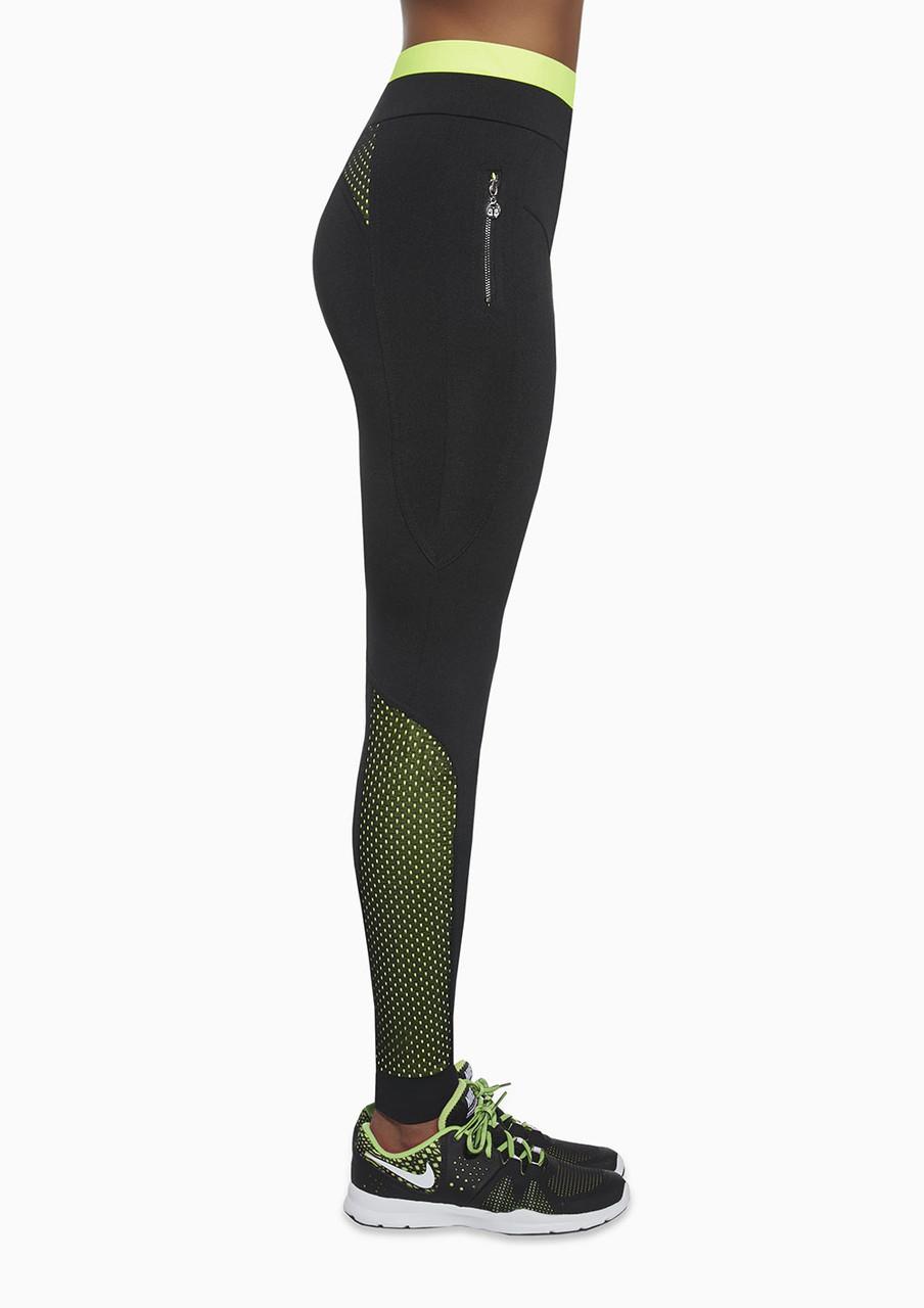 Спортивні жіночі легінси BasBlack Inspire (original), лосини для бігу, фітнесу, спортзалу
