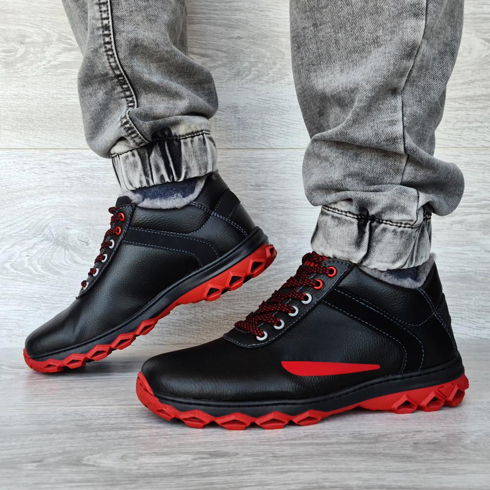 Чоловічі черевики зимові чорні (Дт-3ччп)