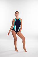 Закрытый женский купальник спортивный Aqua Speed Nina (original), цельный, слитный, для бассейна, фото 1