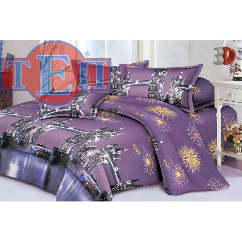 Качественное постельное белье ТЕП  RestLine 103  «Тауэр» 3D дешево от производителя.