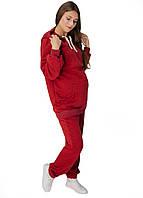 В-999670204 Спортивный костюм для беременных и кормящих мам с секретом для кормления Бордо