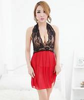 Красный женский пеньюар
