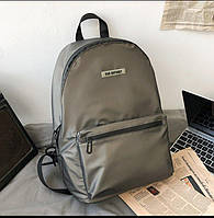 Тканевый рюкзак унисекс темно-серого цвета