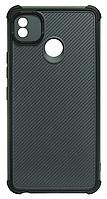Накладка Tecno POP4 grey/black bamper Shockproof