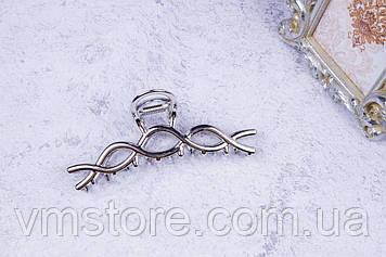 Краб металлический, модный крабик для волос