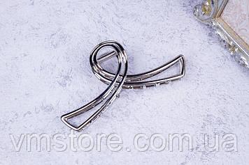 Крабик металлический петелька, стильные заколки для волос