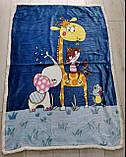 Детский велюровый плед на овчине Пони двухсторонний теплый 110*140 см, фото 7