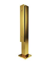 Цвет золото, стойки для стеклянных ограждений и перил из стекла