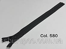 Потайна блискавка 25 см чорний