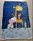 Детский велюровый плед на овчине Хеллоу Китти двухсторонний теплый 110*140 см Розового цвета, фото 7