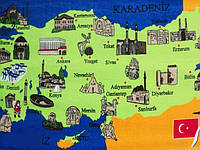 Пляжное полотенце велюр-махра Карта Турция