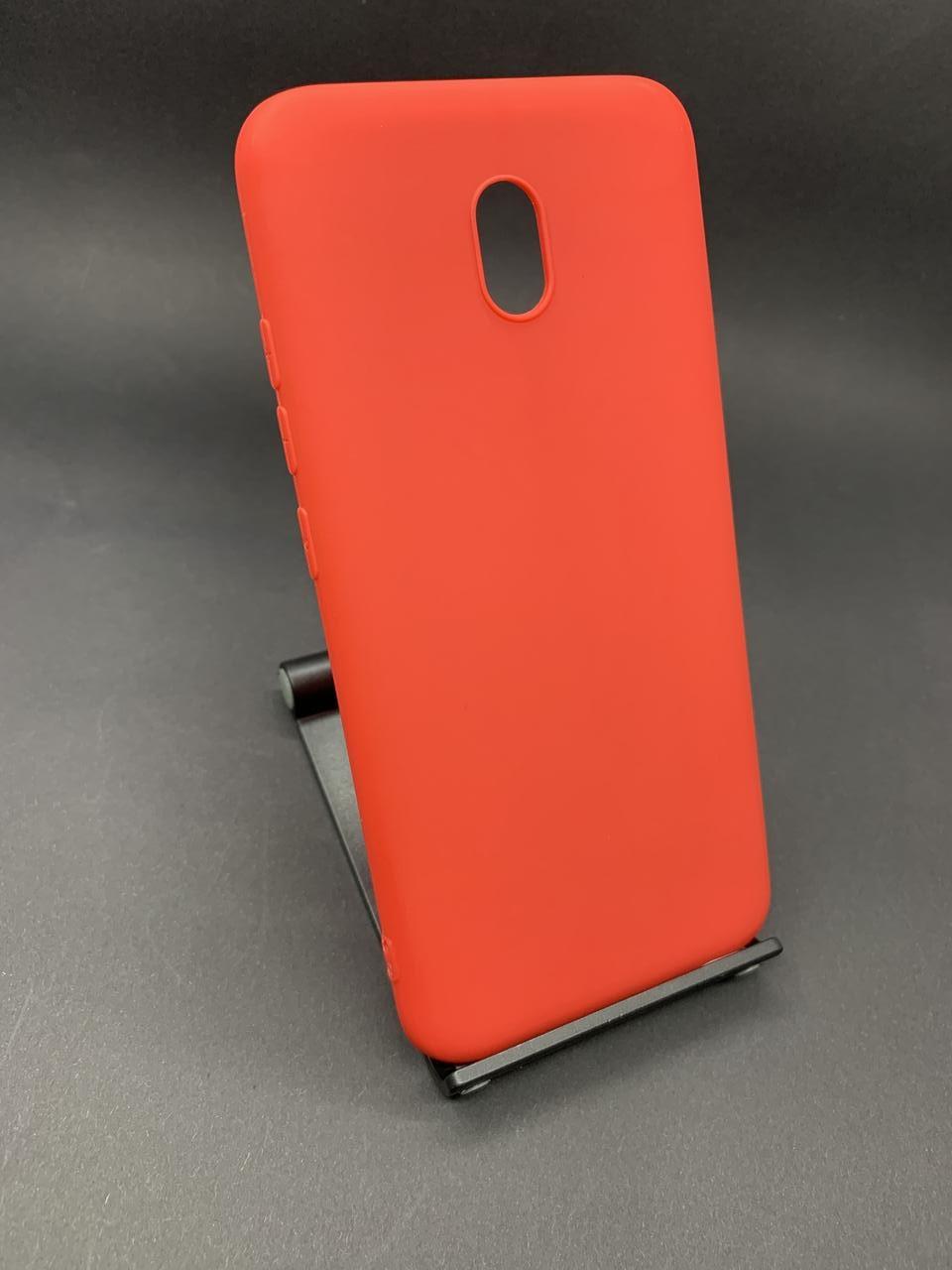 Чохол силіконовий Xiaomi Redmi 8A матовий червоний