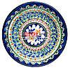 Ляган (узбецька тарілка) 28х4см для подачі плову керамічний (ручна розпис) (варіант 7)