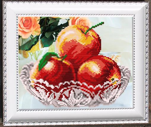 """Рисунок на ткани для вышивания бисером """"В хрустале. Яблоки"""", фото 2"""