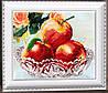 """Рисунок на ткани для вышивания бисером """"В хрустале. Яблоки"""""""