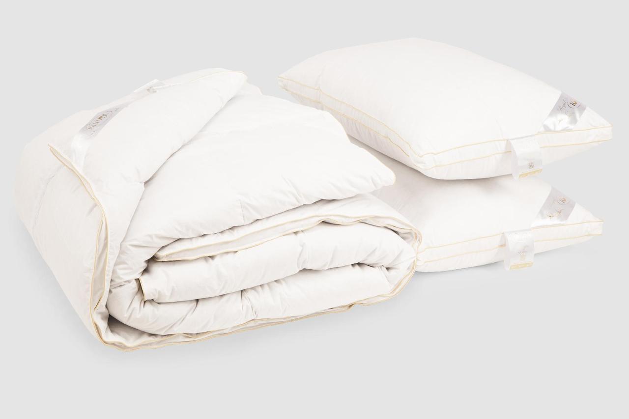 Комплект IGLEN Roster Royal Series одеяло белый пух Зимнее 110х140 см и 1 подушка 50х70 см Белый