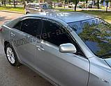 Дефлектори вікон з хром моолдингом, вітровики Toyota Camry V40 2006-2011, фото 3