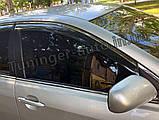 Дефлектори вікон з хром моолдингом, вітровики Toyota Camry V40 2006-2011, фото 4
