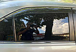 Дефлектори вікон з хром моолдингом, вітровики Toyota Camry V40 2006-2011, фото 6