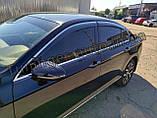 Дефлектори вікон з хром молдингом, вітровики Volkswagen Passat B8 2014- (Uncle), фото 3