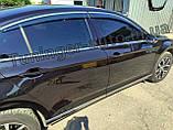 Дефлектори вікон з хром молдингом, вітровики Volkswagen Passat B8 2014- (Uncle), фото 5
