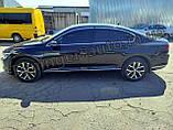 Дефлектори вікон з хром молдингом, вітровики Volkswagen Passat B8 2014- (Uncle), фото 7