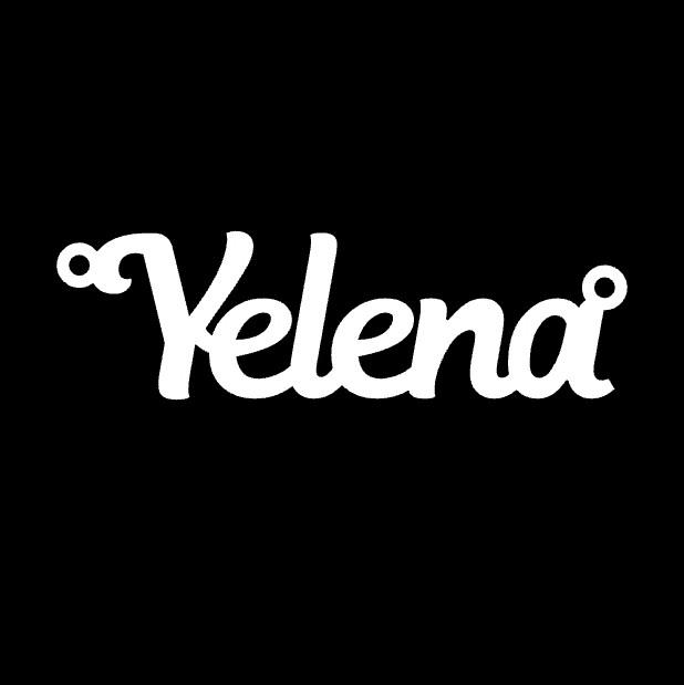 Срібне кольє з ім'ям Yelena