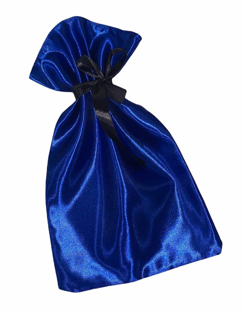Стильный мешочек для упаковки подарков.Яркий атласный мешочек.