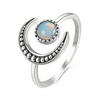 Серебряное кольцо Лунный камень 925 пробы №1