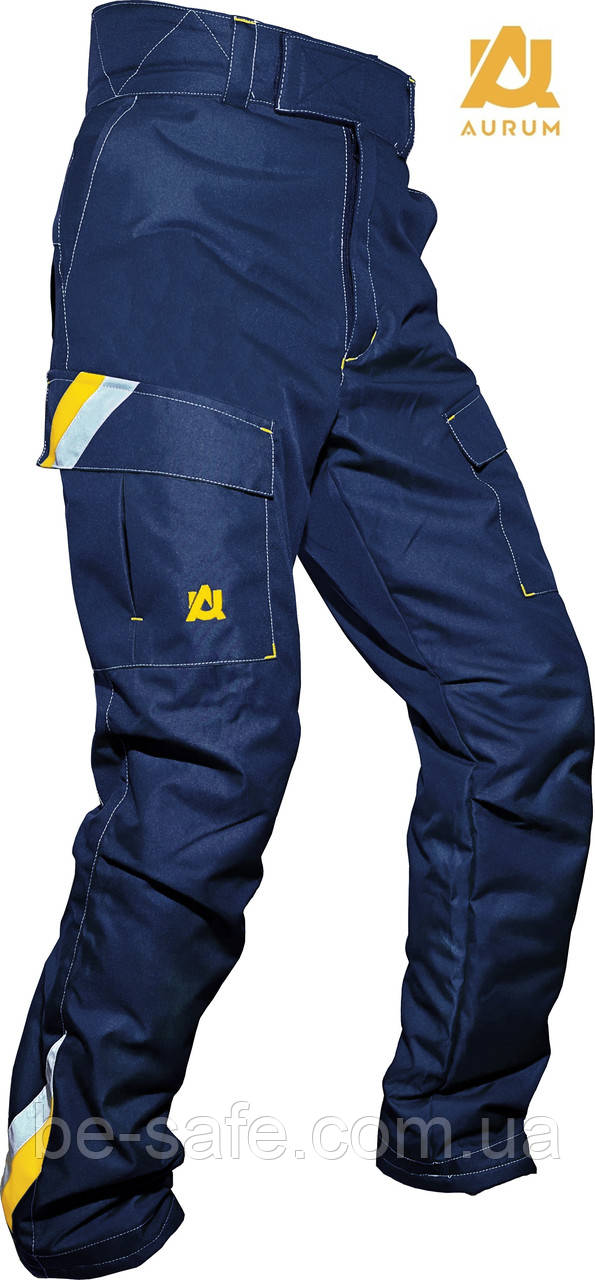 Штани робочі, зносостійкі, спецодяг, захисні, сигнальні на утепленій підкладці AURUM EVEREST зріст 170 см