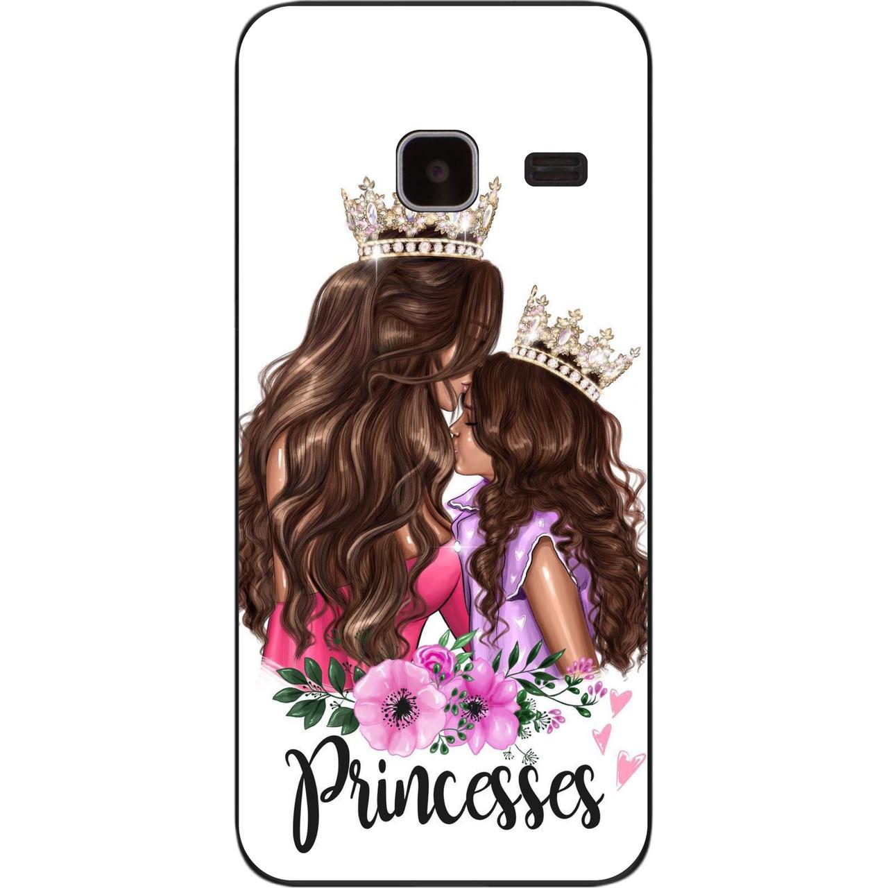 Бампер силиконовый чехол для Samsung Galaxy J1 mini J105 с картинкой Принцесы