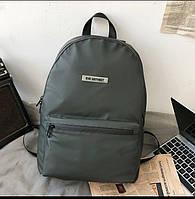 Тканевый рюкзак унисекс темно-зеленого цвета