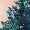 """Искусственная елка 2 м. """"Элитная с шишками"""" заснеженная с белыми кончиками и с подставкой, фото 3"""