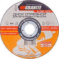 Диски отрезные абразивные для металла GRANITE +30