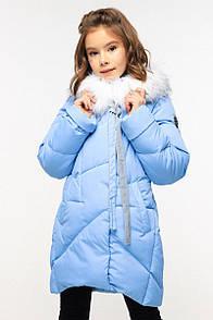Пальто дитяче Офелія - Блакитний  3434