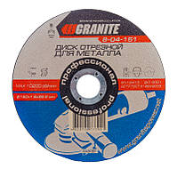 Диск абразивный отрезной для металла GRANITE 150х1.6х22.2 мм 8-04-151