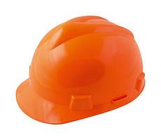 """Каска строительная """"V"""" MASTERTOOL (строители) оранжевая 81-1006"""