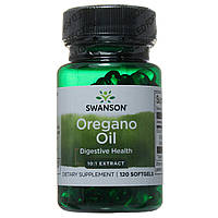 Масло орегано (душицы), Oregano Oil, Swanson, 150 мг, экстракт 10:1, 120 капсул