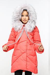 Пальто дитяче Офелія - Корал  472