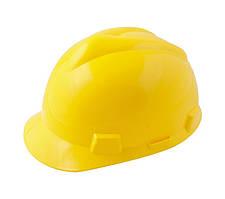 """Каска будівельна """"V"""" MASTERTOOL (будівельники) жовта 81-1005"""