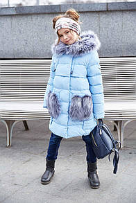 Пальто дитяче ПолианнаNT - Блакитний  3434