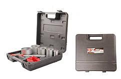 Набор корончатых сверл GRANITE для плитки 5 шт 33-83 мм вольфрамовое напыление + напильник в чемодане 2-08-005
