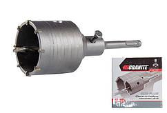 Сверло корончатое GRANITE для бетона 65 мм 8 зубцов с хвостовиком 22х110 мм SDS-PLUS 2-08-065