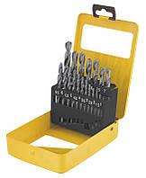 Набір свердел для металу MASTERTOOL 19 шт HSS (1-10 мм крок 0.5 мм) в металевій коробці білі 11-0119