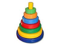 Игровой набор «Башня» стержень – 1, кольца – 5 ИМ-12.74